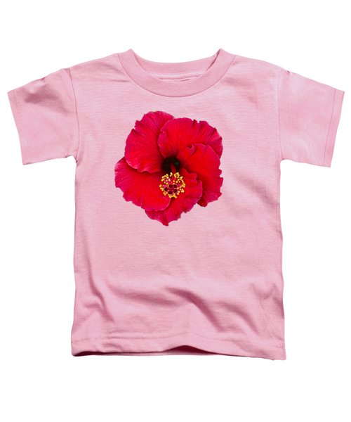 Red Hibiscus H11 Toddler T-Shirt