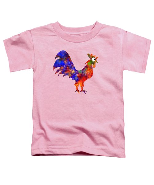 Red Rooster Art Toddler T-Shirt by Christina Rollo