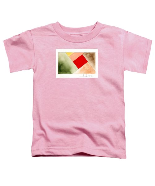 Red Square Tanned Toddler T-Shirt
