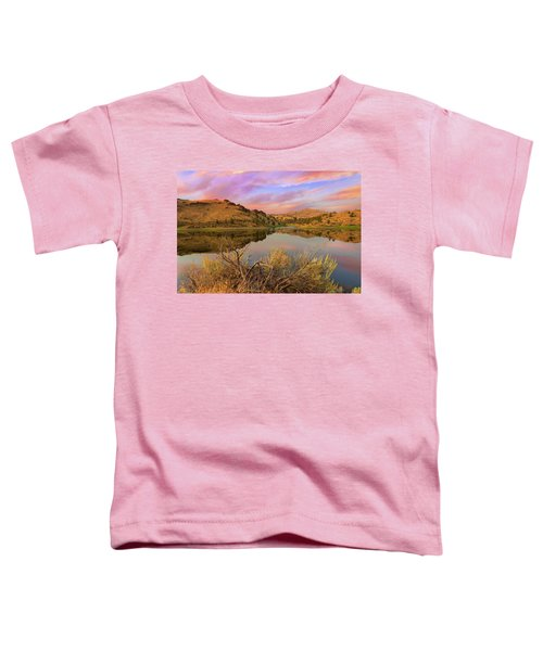 Reflection Of Scenic High Desert Landscape In Central Oregon Toddler T-Shirt