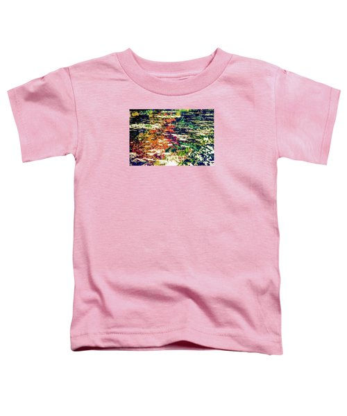Reflection On Oscar - Claude Monet's  Garden Pond  Toddler T-Shirt