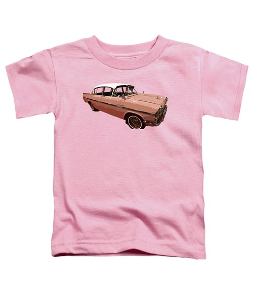 Retro Pink Car Art Toddler T-Shirt