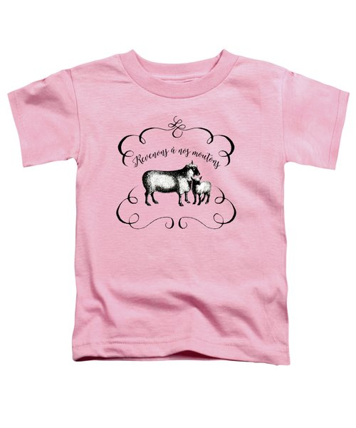 Revenons A Nos Moutons Toddler T-Shirt by Antique Images