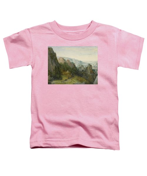 Rocky Landscape With Travellers Toddler T-Shirt