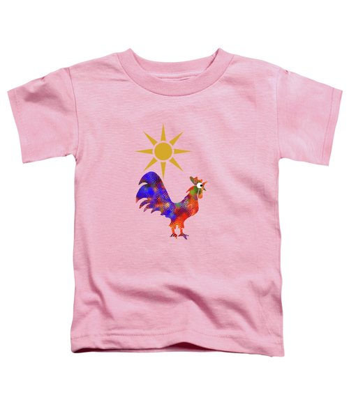 Rooster Pattern Toddler T-Shirt by Christina Rollo
