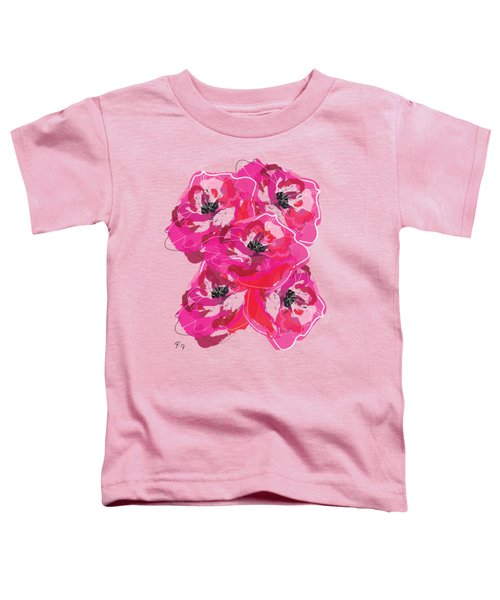 Toddler T-Shirt featuring the painting Rose Abundance by Go Van Kampen