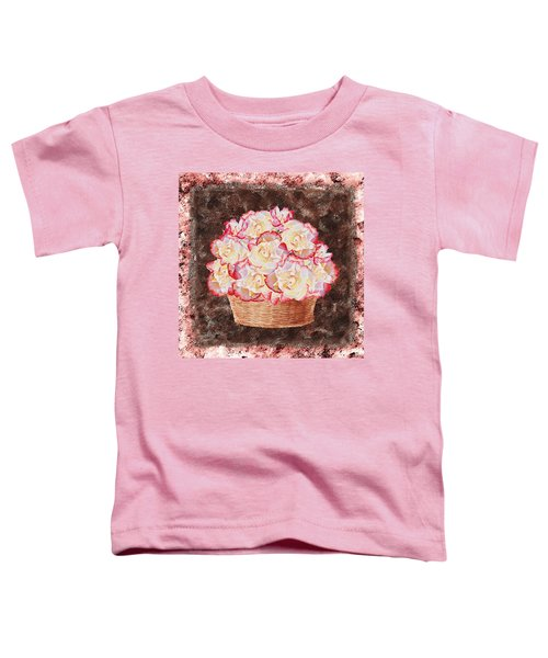 Rose Basket Toddler T-Shirt