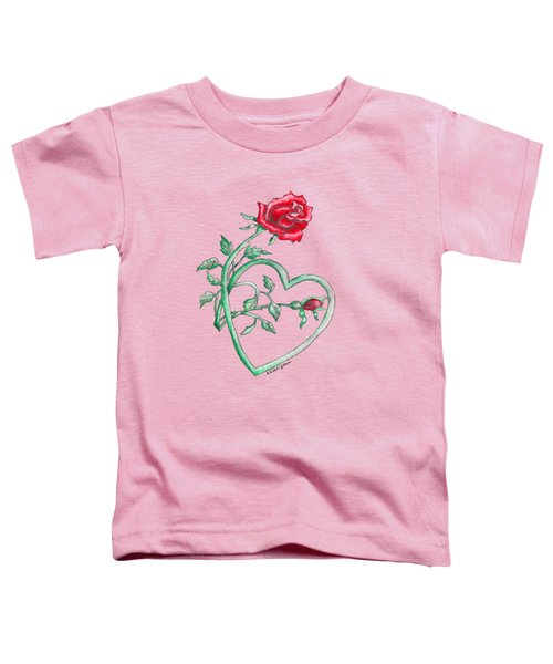 Roses Hearts Lace Flowers Transparency       Toddler T-Shirt