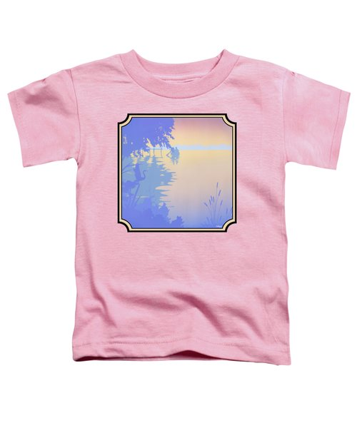 Rowing Back To The Boat Dock At Sunset Abstract Toddler T-Shirt