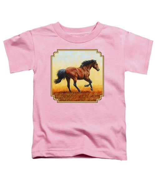 Running Horse - Evening Fire Toddler T-Shirt