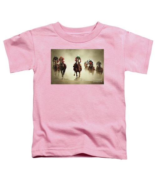 Running Horses In Dust Toddler T-Shirt