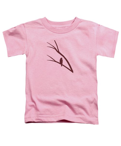 Rustic Bird Art Maroon Bird Silhouette Toddler T-Shirt