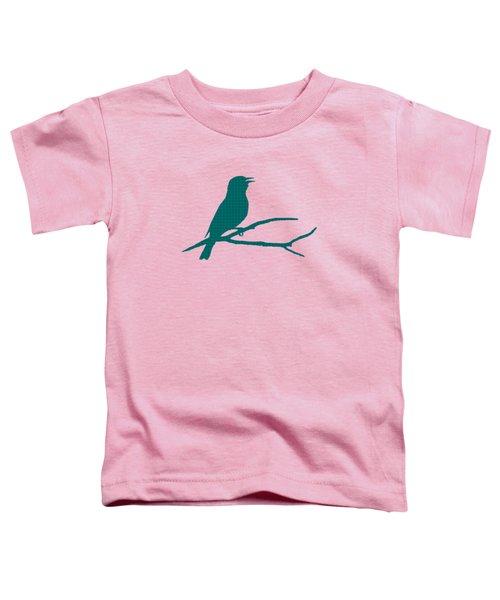 Rustic Green Bird Silhouette Toddler T-Shirt