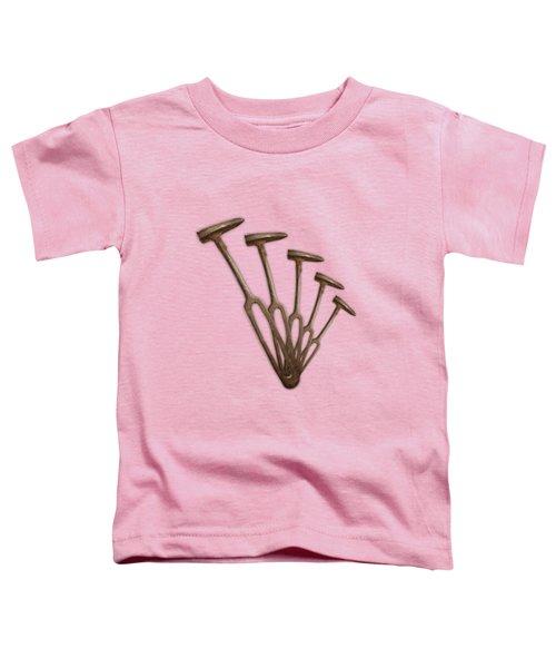 Rustic Hammer Pattern Toddler T-Shirt