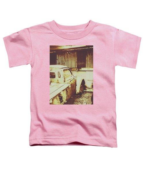 Rusty Pickup Garage Toddler T-Shirt