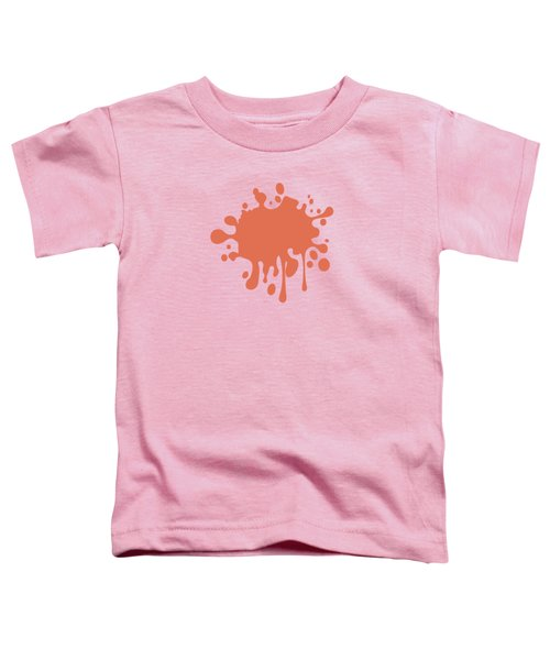 Salmon Color Accent Decor Toddler T-Shirt by Garaga Designs