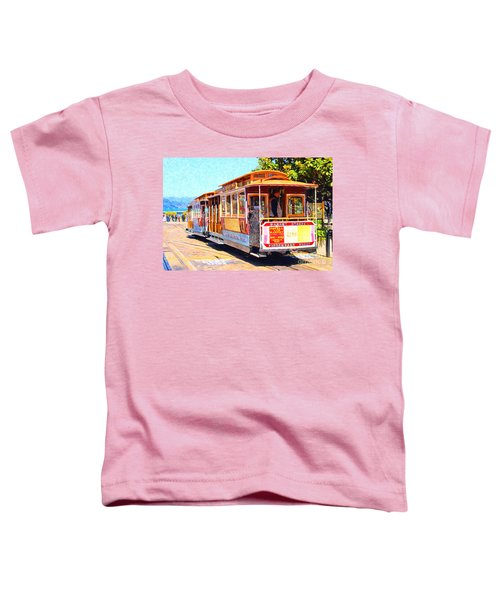 San Francisco Cablecar At Fishermans Wharf . 7d14097 Toddler T-Shirt