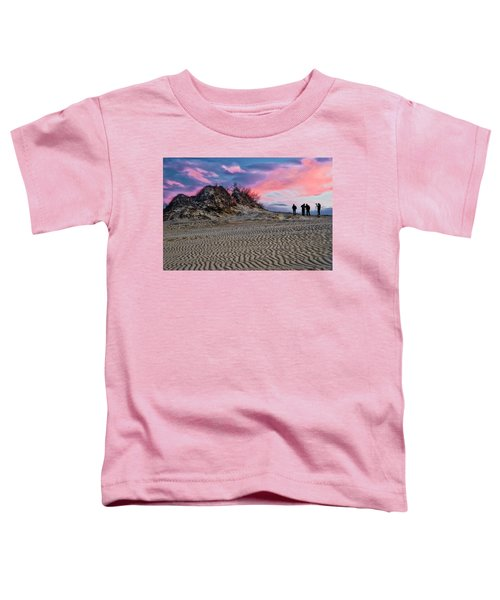 Toddler T-Shirt featuring the photograph Sand Dunes Of Kitty Hawk by Donald Brown