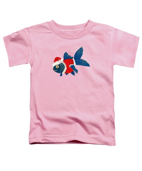 Santa Fish Toddler T-Shirt