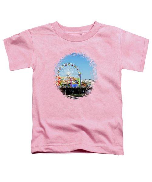 Santa Monica Ferris Wheel Toddler T-Shirt by Stefanie Juliette