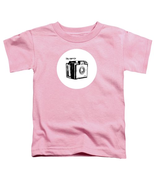 Say Cheese Old Film Camera Round Circle Blanket Towel Toddler T-Shirt