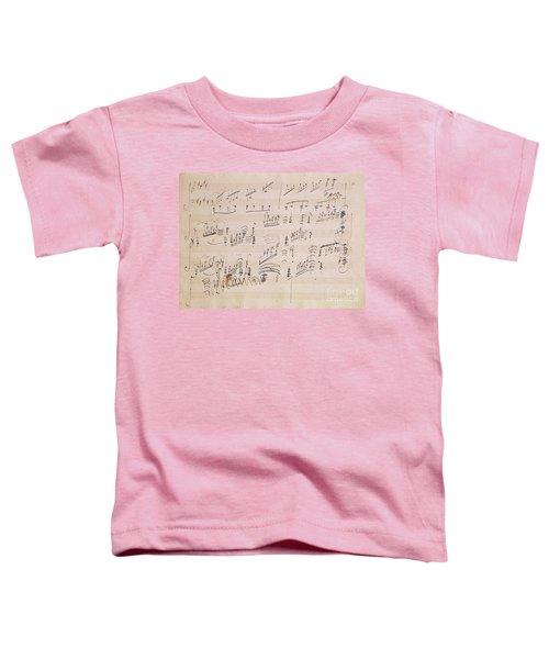 Score Sheet Of Moonlight Sonata Toddler T-Shirt