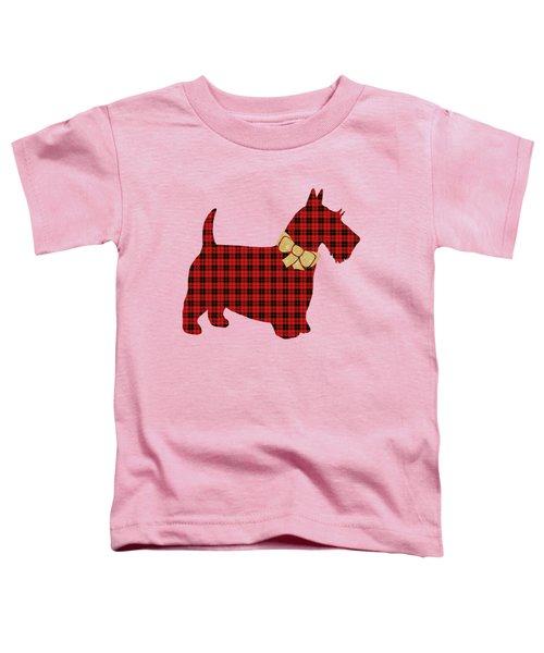 Scottie Dog Plaid Toddler T-Shirt