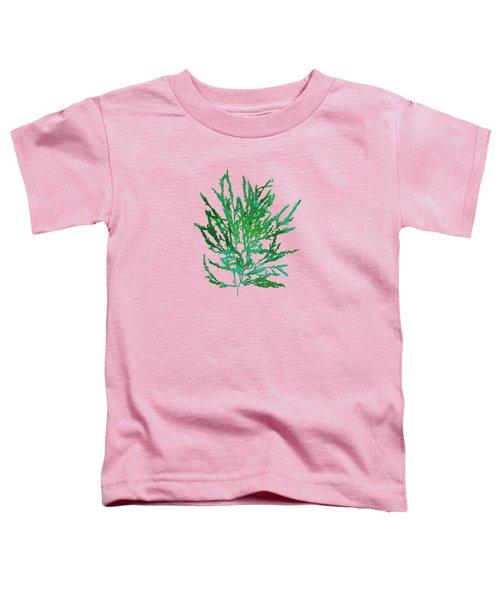 Sea Green Seaweed Art Odonthalia Dentata Toddler T-Shirt