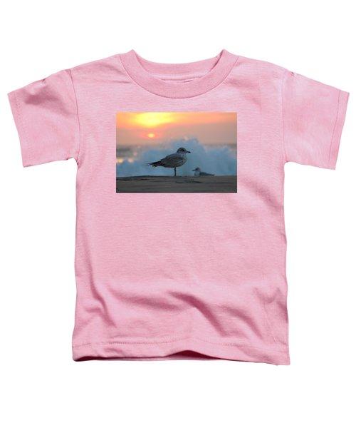 Seagull Seascape Sunrise Toddler T-Shirt