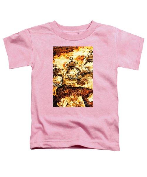 Shark Pendants On Rusty Marine Background Toddler T-Shirt