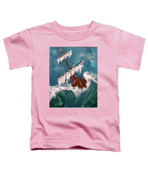 Ship In A Storm Toddler T-Shirt