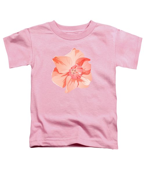 Short Trumpet Daffodil In Warm Pink Toddler T-Shirt