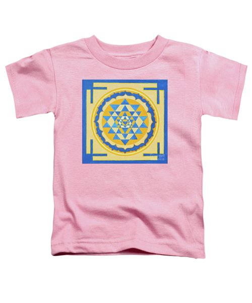 Shri Yantra For Meditation Painted Toddler T-Shirt