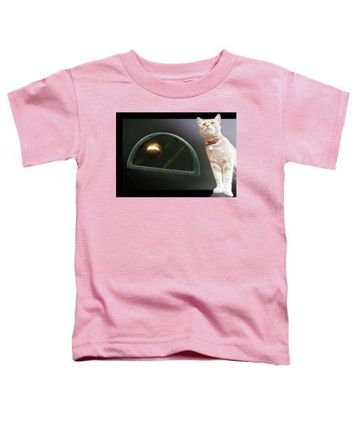 Cat, Silver And Gold  Brooch Toddler T-Shirt