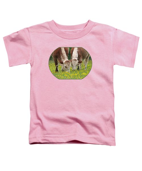 Sisters - Brown Cows Toddler T-Shirt
