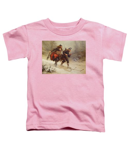 Skiing Birchlegs Crossing The Mountain With The Royal Child Toddler T-Shirt