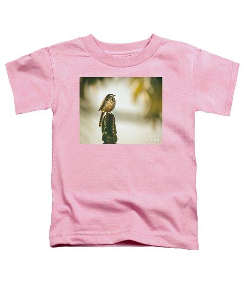 Sleeping Cactus Wren Toddler T-Shirt