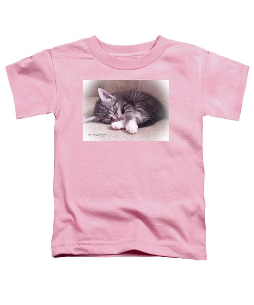 Sleepy Kitten Bymaryleeparker Toddler T-Shirt