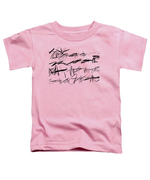 Toddler T-Shirt featuring the painting Sloppy Writing by Go Van Kampen