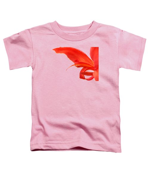 Softly Red Canna Lily Toddler T-Shirt