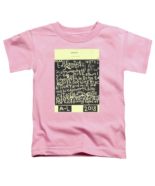 Song Notes Title Page A-l Toddler T-Shirt