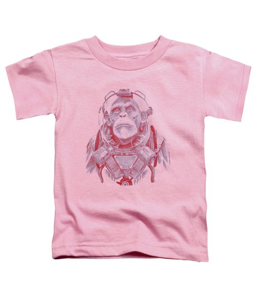 Space Chimp Toddler T-Shirt by Kenny Noorlander