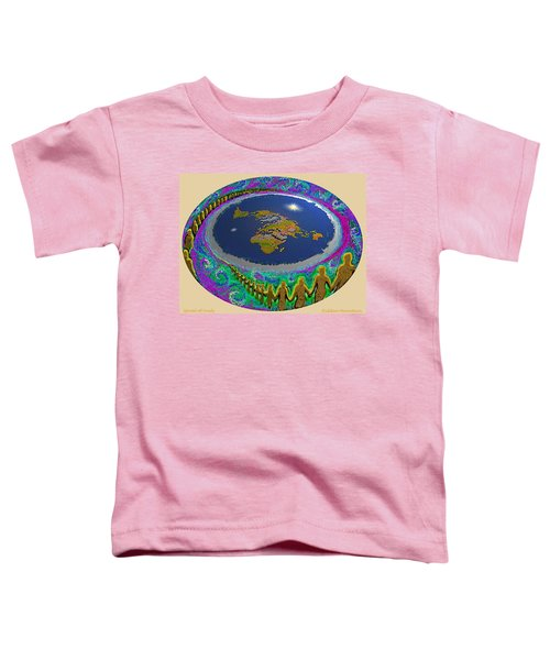 Spiral Of Souls Flat Earth Toddler T-Shirt