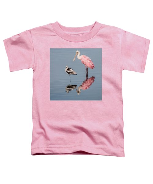 Spoonbill, American Avocet, And Reflection Toddler T-Shirt