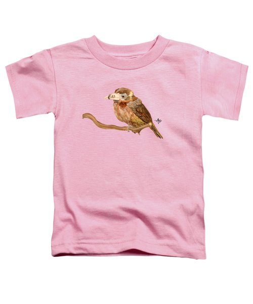Spot-billed Toucanet Toddler T-Shirt by Angeles M Pomata
