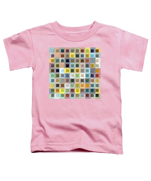 Toddler T-Shirt featuring the digital art Squares In Squares Three by Michelle Calkins