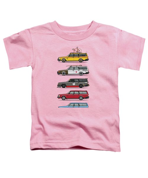 Stack Of Volvo 200 Series 245 Wagons Toddler T-Shirt