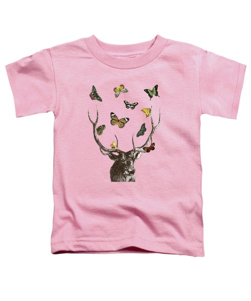 Stag And Butterflies Toddler T-Shirt