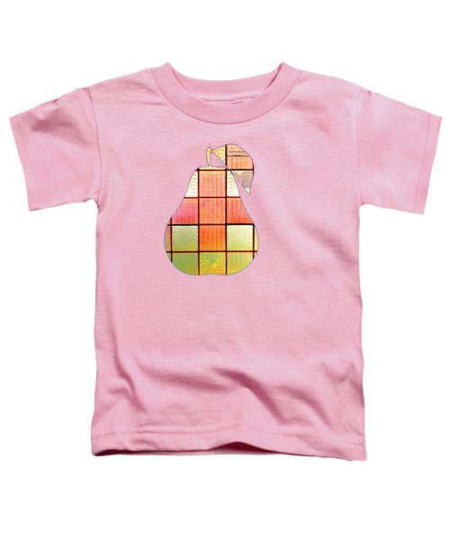 Stained Glass Pear Toddler T-Shirt