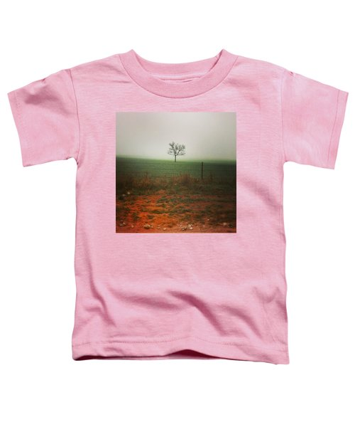Standing Alone, A Lone Tree In The Fog. Toddler T-Shirt